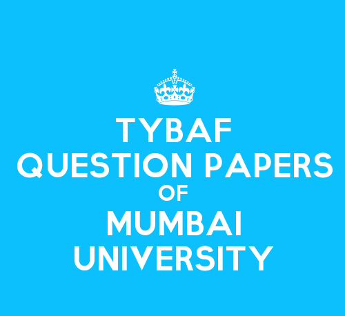 TYBAF Question paper