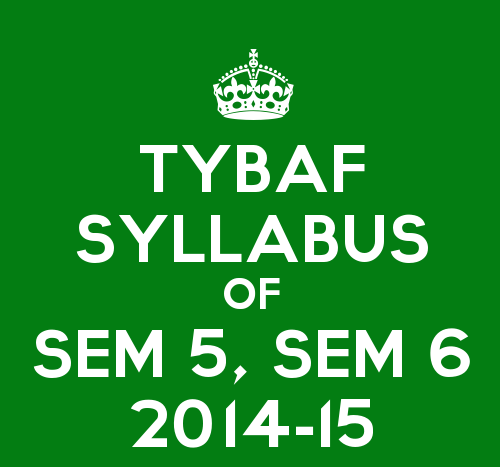 TYBAF Syllabus